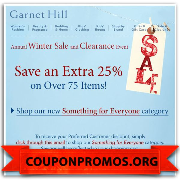Garnet hill coupon codes