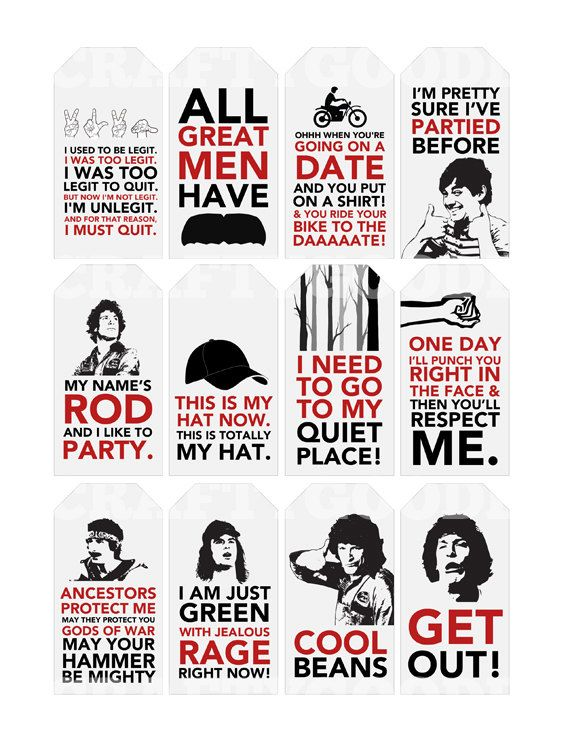 Hot Rod Quote Gift Tags | Printable | Typography