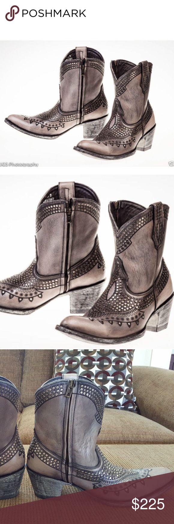"Old Gringo Killer Zipper, Size 9.5 Old Gringo Killer Zipper, Size 9.5, 8"" shaft, Trigger Grey Sintino heel and toe Old Gringo Shoes Heeled Boots"