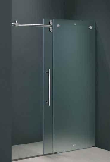 Vigo Industries 60 in. Frameless Shower Door in Frosted Glass (VG6041CHMT6074L) | ShopLadder