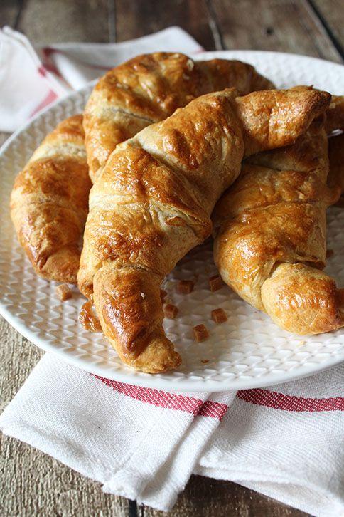 Appel karamel croissants