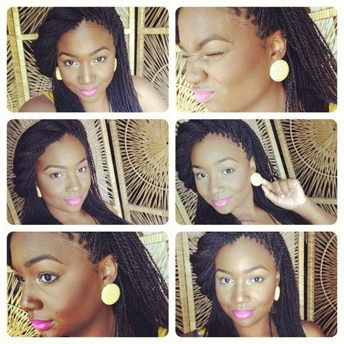 I love box braids...even though I can never seem to style mine like this lol.