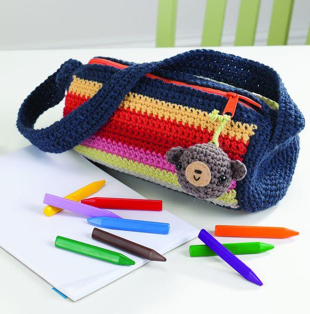 Cartuchera a crochet