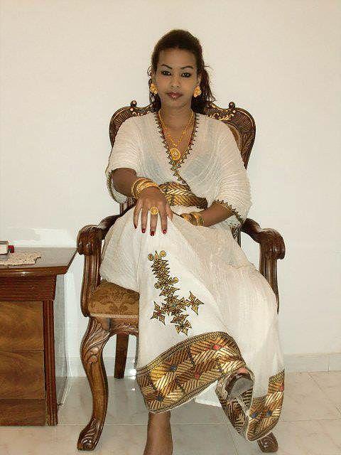 Ethiopian traditional dress eritrean traditional dress for Traditional ethiopian wedding dresses