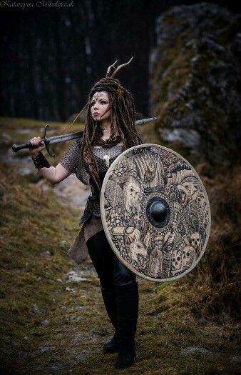 Larp female shield maiden