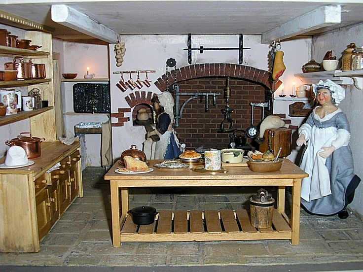26 best images about georgian dollhouses on pinterest for Georgian kitchen ideas