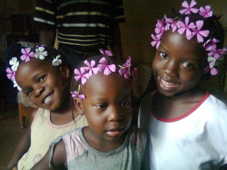 Abundo, Pesh and Pavlo, some of the children the Migosi foundation are assisting is Kisumu