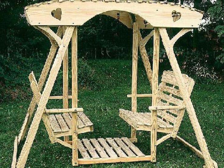 M s de 1000 ideas sobre columpio de madera en pinterest - Hacer un columpio ...
