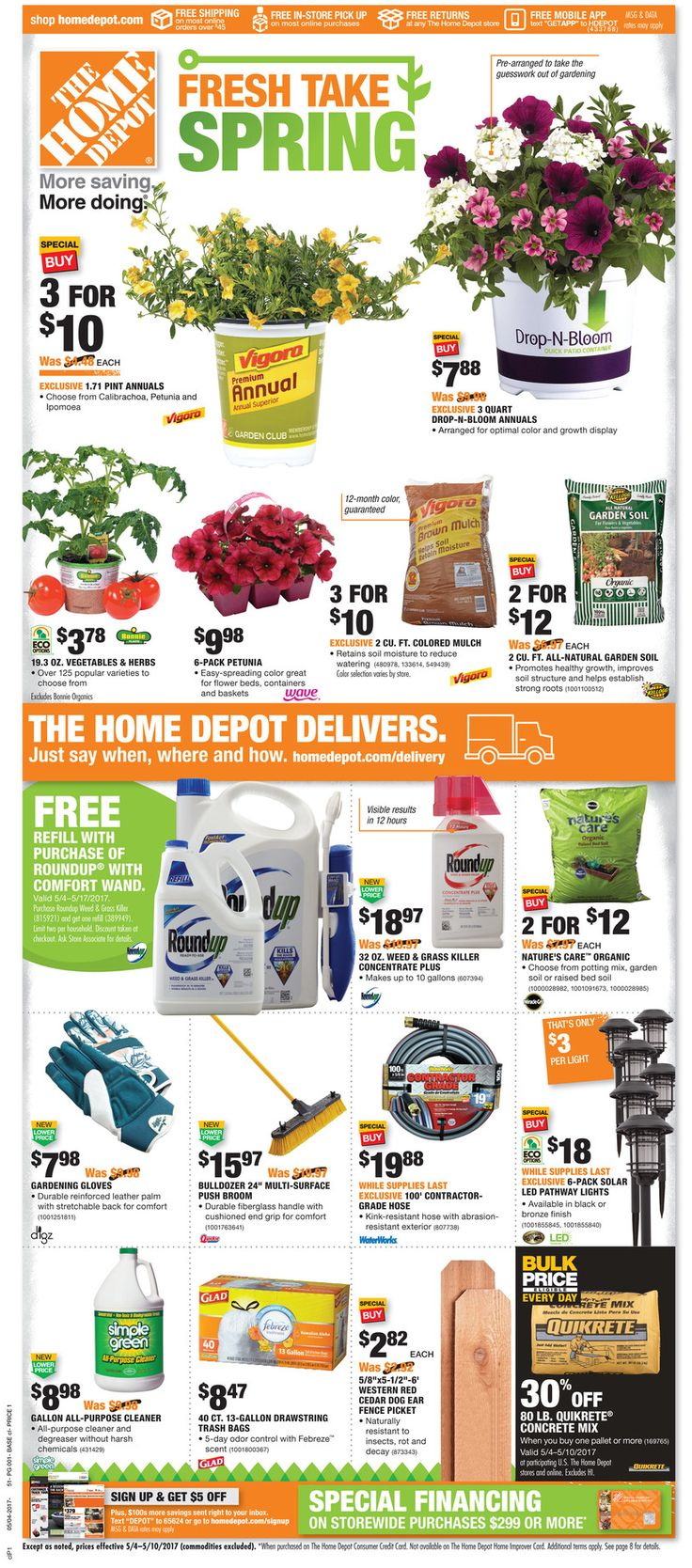 Home Depot Weekly Ad May 4 - 10, 2017 - http://www.olcatalog.com/home-garden/home-depot-weekly-ad.html