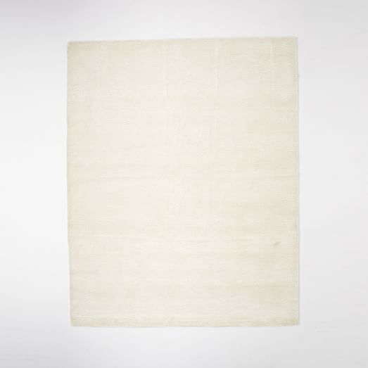 Watercolor Solid Rug - Ivory | west elm
