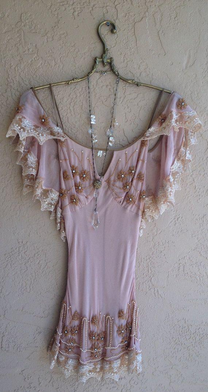 Great gatsby Beaded Bohemian silk tunic bridesmaid by BohoAngels, $280.00
