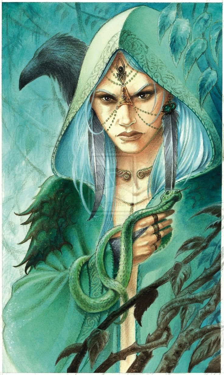 Morgane - the Blue Witch by krukof2 on deviantART