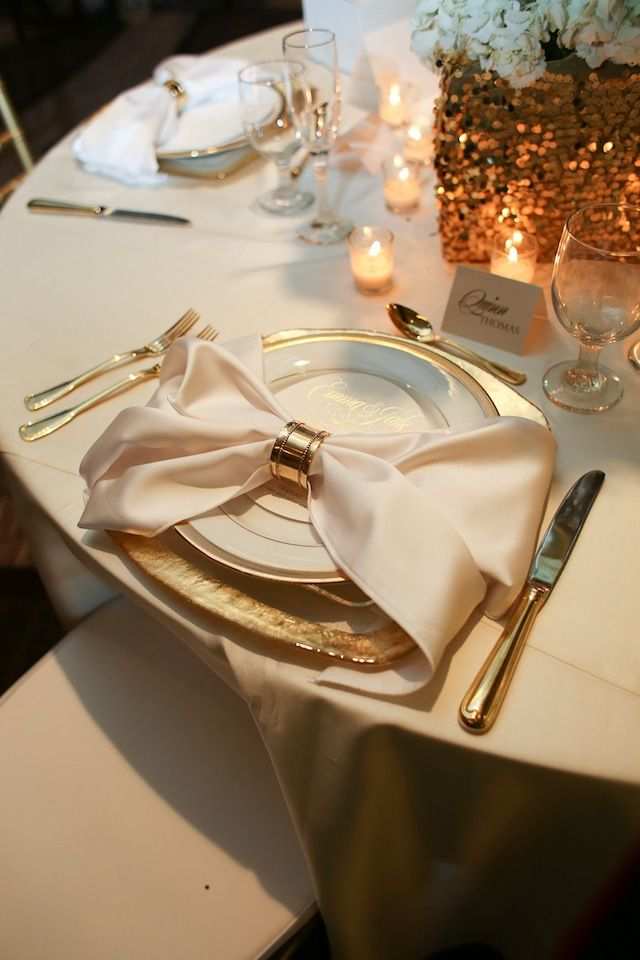 wedding reception table design ideas nashville, gold lavish