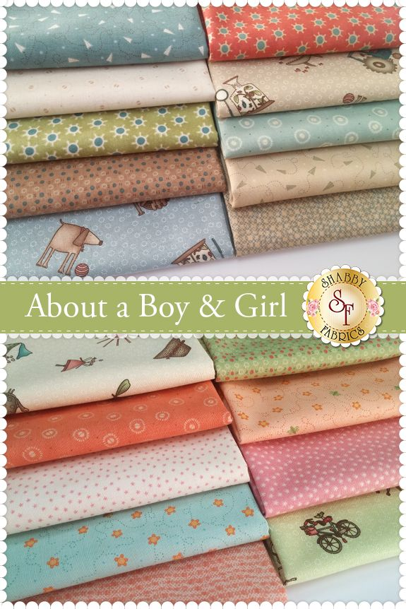About a Boy & Girl by Anni Downs for Henry Glass Fabrics