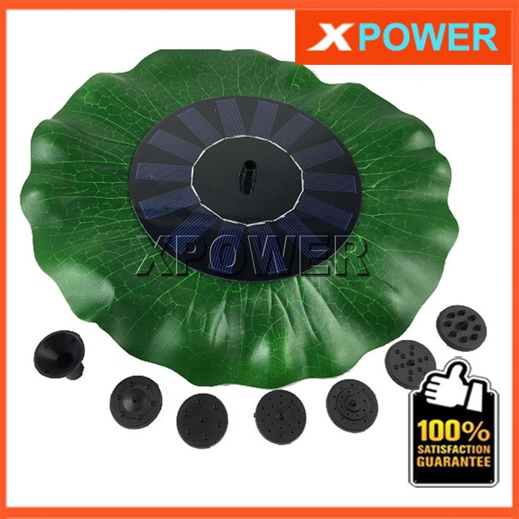 29.51$  Buy here - http://alirak.shopchina.info/go.php?t=32567256837 - JT-160F1HY38 200L/H Lift 90CM Simulation Lotus Leaf Fountain 8V DC Brushless Motor Solar Pump Pond Fountain with Solar Panel  #aliexpresschina