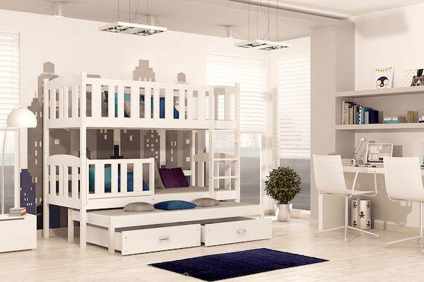 Lit superpos avec lit gigogne jacob 3 avec matelas et tiroirs 180x80 cm de - Lit gigogne de qualite ...