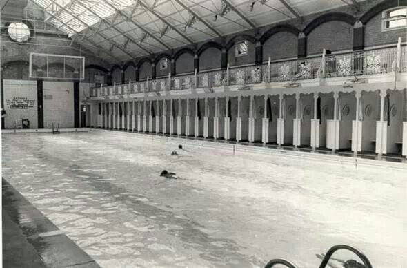 North Road Brighton. Swimming baths
