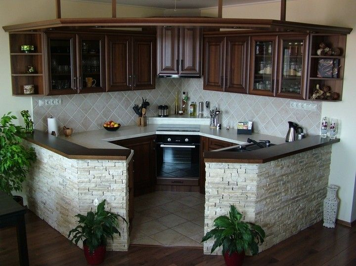 KITCHEN CORNER NOOK - DIFFERENT!!!!  I'd extend the exterior counter & add stools for Dining / Bar seating.