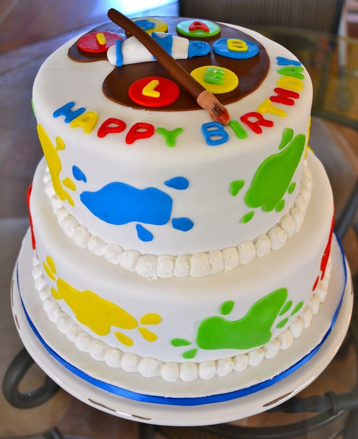 art party cake Crafts Birthday Party Pinterest