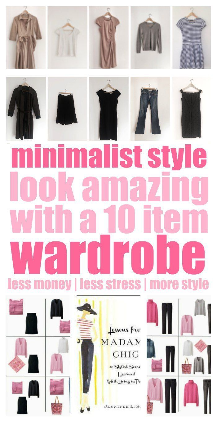 You MUST check this out! This 10 item wardrobe idea is amazing! It has to make getting dressed in the morning so much easier. Definitely less stress! CHEAPER, too!