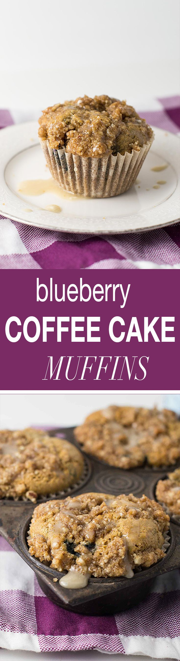 Whole wheat blueberry coffee cake muffins recipe. The perfect dairy free muffin to enjoy with your morning cup of coffee! #ad #SilkandSimplyPureCreamers @lovemysilk @walmart