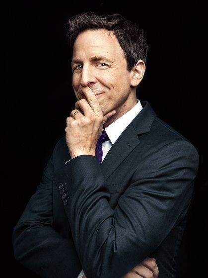 "Seth Meyers. From ""We'll Do it Late."" January 13, 2014 issue."