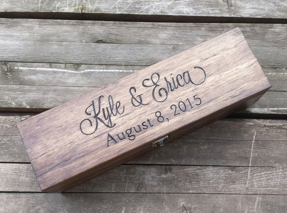 Personalized wine box wedding wine box love letter by arrowsarah