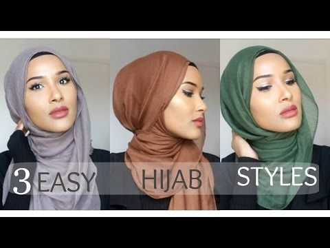 3 MOST WORN HIJAB STYLES| EASY HIJAB TUTORIALS - YouTube