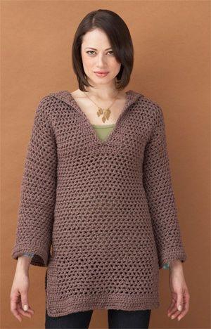Hooded Pullover - free crochet pattern