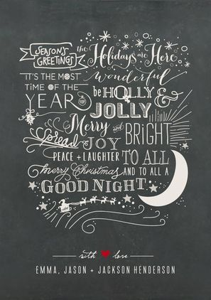 REVEL: Chalkboard Christmas Card