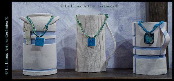 """Línea """"Agua"""" de """"Diseño Colores"""", Diseño exclusivo de La Lluna, Arte en Cerámica®"""