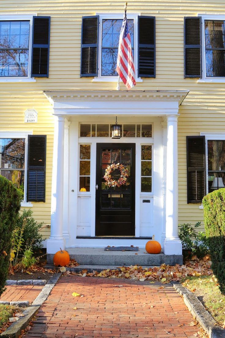 98 best row house exterior images on pinterest exterior for Front door yellow paint