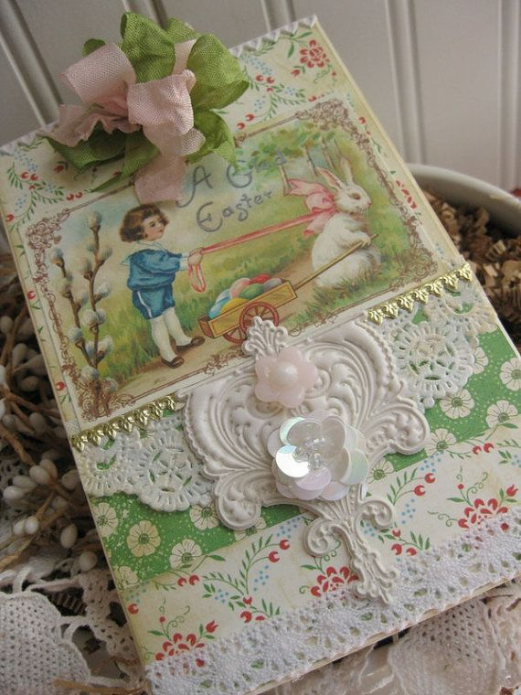 107 best victorian easter cards images on pinterest easter card victorian handmade easter cards victorian easter carda glad easter by cherrysjubileecards on etsy 8 negle Choice Image