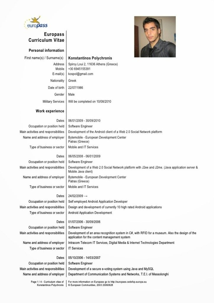 Awesome European Cv Template Download Idea Example Of Good