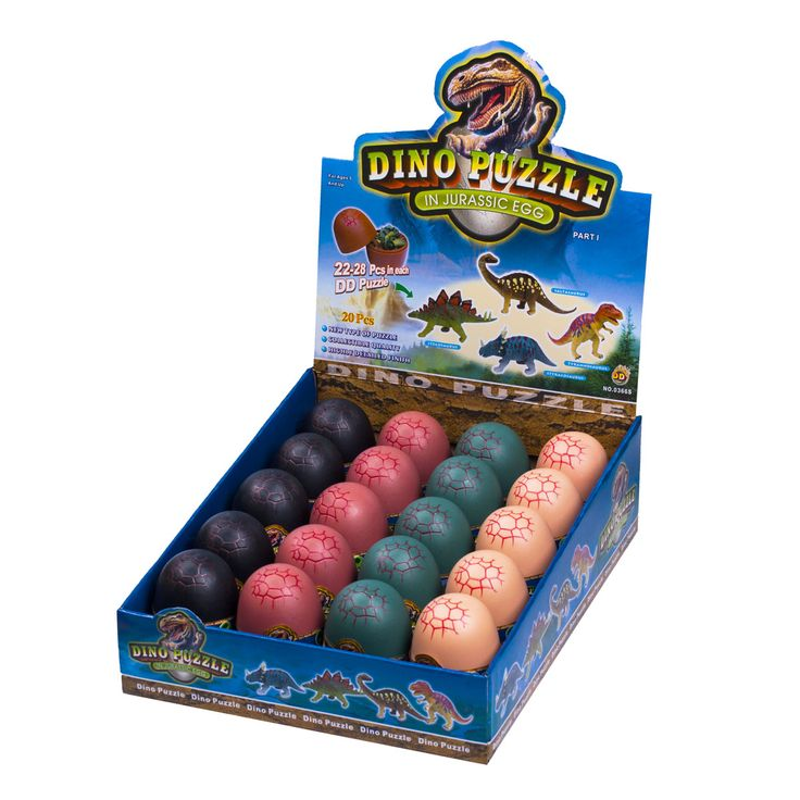 Glow in the dark small plastic animal dinosaur egg puzzle ...