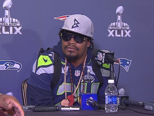 Marshawn Lynch is Silent No More! Seahawks running back Marshawn Lynch made it clear to the media Thursday: He's had it with being forced to talk to them. As he sat down for his last required Super Bowl press availability, he launched into a basic question-Why do you keep coming back? http://www.king5.com/story/sports/nfl/seahawks/2015/01/29/lynch-lays-into-super-bowl-media/22530113/