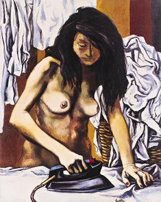 """Renato Guttuso - Stiratrice"""", 1974 - cm. 60x74"""