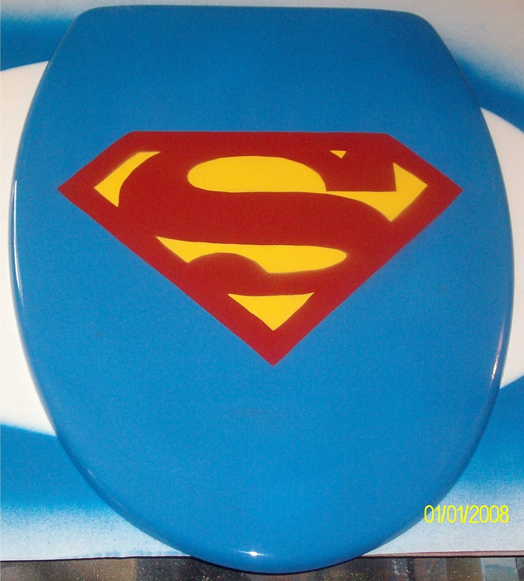 Superman Toilet Seat Best Seat In The House Pinterest Toilet Novelty Toilet Seats And