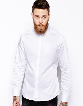 River Island Shirt with Pin Collar