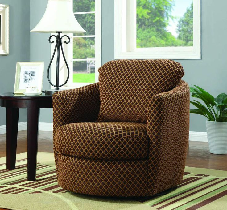 Diamond Patterns Swivel Chair By Coaster Furniture