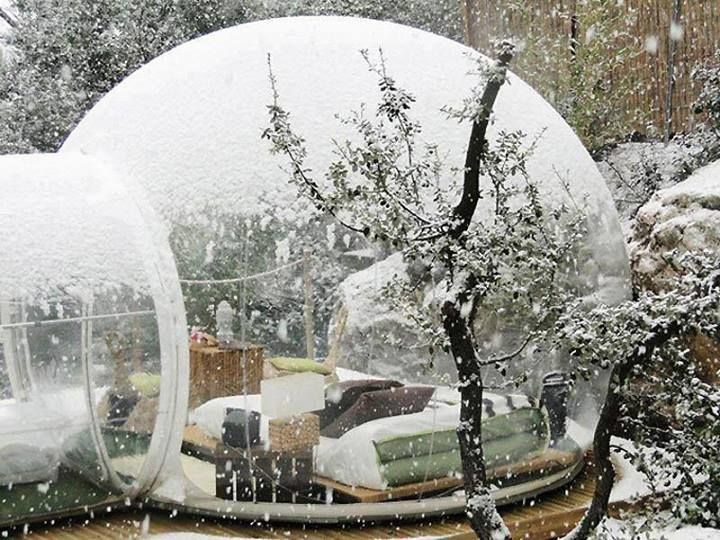 "The Attrap'Rêves has ""bubble hotel"" locations in Allauch and Puget Ville, France with a third coming soon to La Bouilladisse."