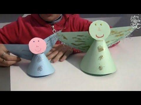 Natale: Angeli di cartoncino - YouTube