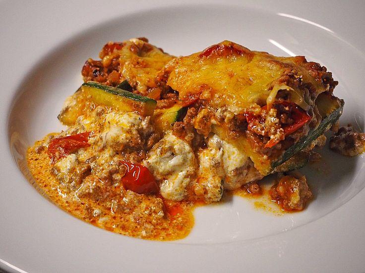 Low carb Rezepte: Zucchini Lasagne