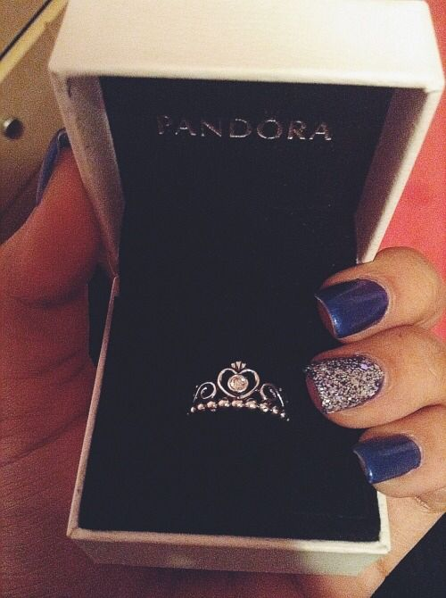 pandora princess ring, because I'm his little princess
