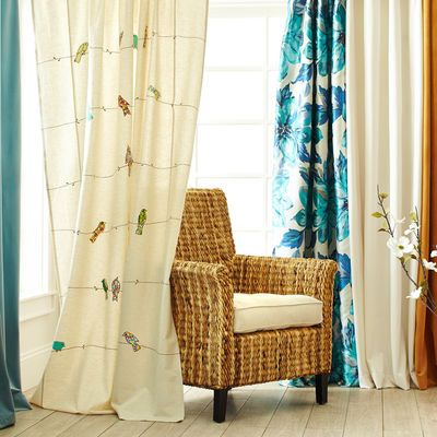 Captivating Applique Birds On A Wire Curtain