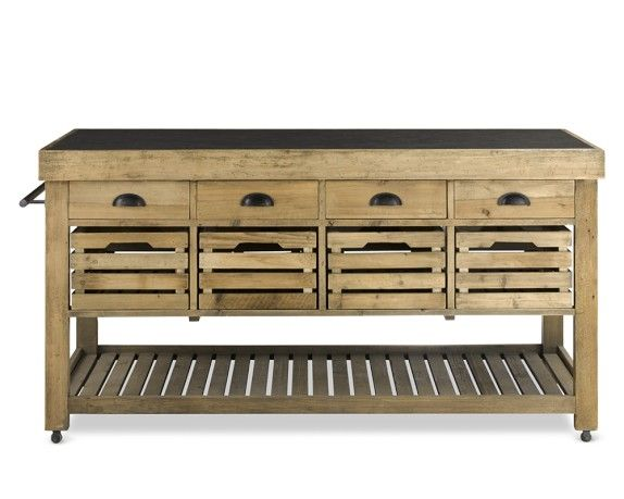 Stone Top Double Kitchen Island From Williams Sonoma