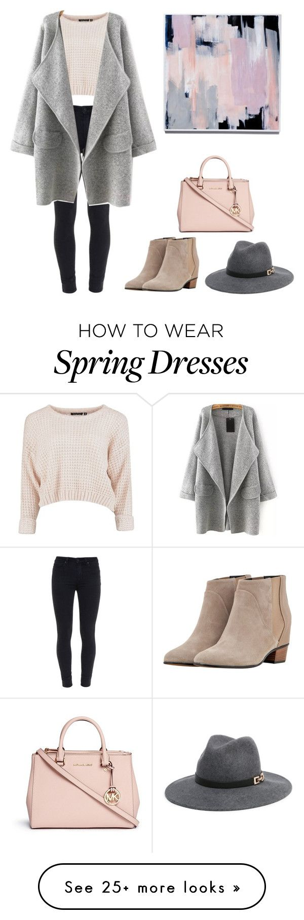 """""""pink&grey aesthetic"""" by ashleyle292 on Polyvore featuring Paige Denim, Golden Goose, Bebe and Michael Kors"""