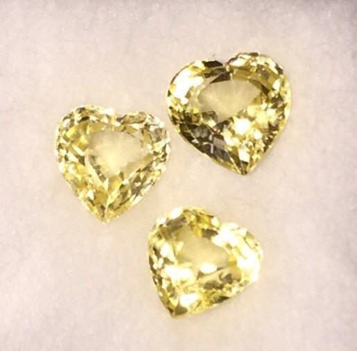 yellow sapphire wedding rings loose sapphire stone diamond ring Canary Sapphire loose sapphire heart shape stones heart shape stone heart shape sapphire engagement stone