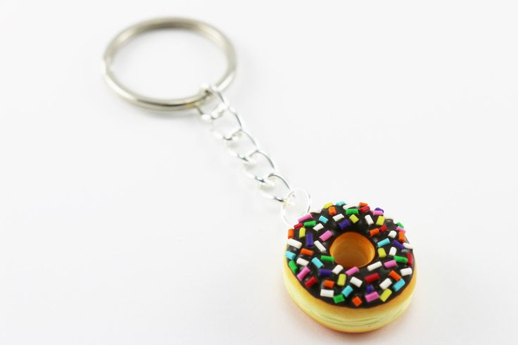 Chocolate Frosting Donut Ring with Multi Color Sprinkles - Food Jewelry, Polymer Clay Jewelry, Kawaii Jewelry, Adjustable Statement Ring