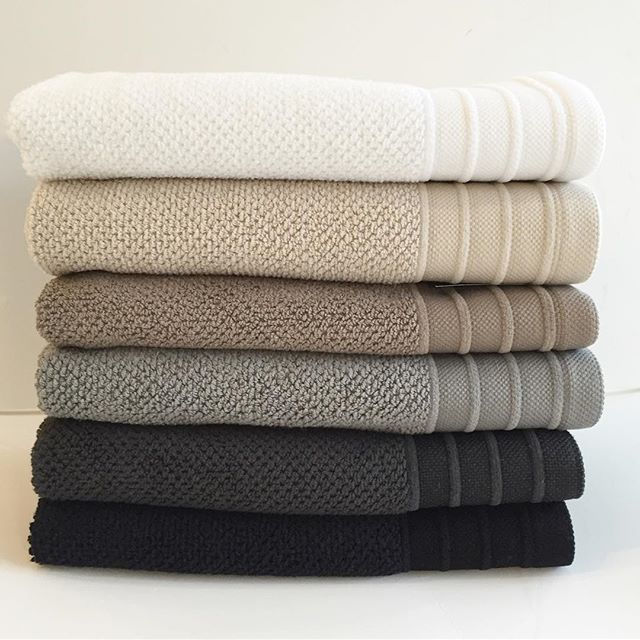 The perfect Bemboka gradation of tone in their luxurious Portuguese towel range! Black, charcoal, dove, moccha, wheat and white